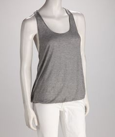 Take a look at this Black & White Molly Twisted Tank by Big Star on #zulily today!