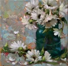 A personal favorite from my Etsy shop https://www.etsy.com/listing/253316475/daisies-8x8-oil-painting-krista-eaton