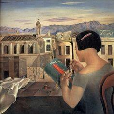 Salvador Dali.Женщина у окна в Фигерасе.1926 г.