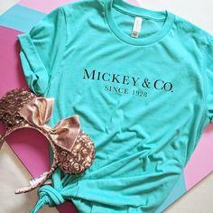 Mickey & Co/ Disney Shirt / Magic Kingdom Shirt / Mickey Mouse Shirt / Disney Vacation Shirt / Mickey Ears Disney World Outfits, Cute Disney Outfits, Disney World Trip, Disney Fun, Disney Style, Disney Vacations, Disney Family, Disney Fashion, Disneyland Outfits