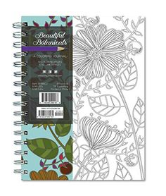 beautiful botanicals 140 page coloring journal rainbow collection journals