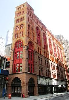 The Gilded Age era - Corbin Building, in NYC, has been restored. Designed in c.1888 - c.1889, by Francis H. Kimball, in the Romanesque Revival Style. Location: Broadway and John Street, Lower Manhattan. ~~ {cwl}