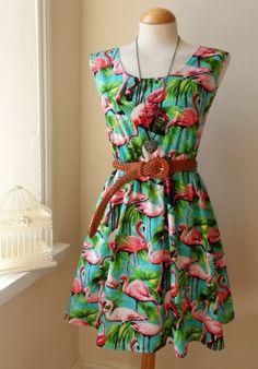 Flamingo Dress! - Etsy- I have something similar :-)