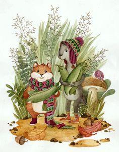 Посмотреть иллюстрацию Богданова Дарья - Хома и суслик.