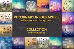 90 VET INFOGRAPHICS. Collection by Palau on @creativemarket