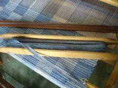 Weaving with denim    Summerandwinterweaving.com - Handwovens