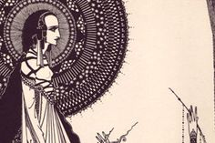 The son of a craftsman, Harry Clarke was exposed to art (and in particular Art Nouveau) at an early age. His first printed work, in 1916, was Fairy Tales by Hans Christian Andersen, a title that included 16 colour plates and more than 24 monotone illustrations. This was closely followed by an illustrations for an edition of Edgar Allan Poe's Tales of Mystery and Imagination: the first version of that title was restricted to monotone illustrations...