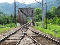 Old railway bridge in Piwniczna
