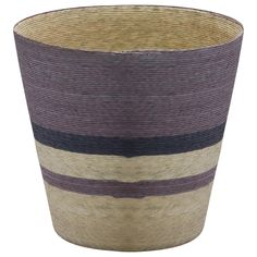 CANTERA STRIPE BASKET WITH NATURAL INTERIOR