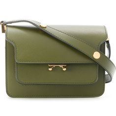 Marni Mini Trunk shoulder bag (€1.475) ❤ liked on Polyvore featuring bags, handbags, shoulder bags, green, marni handbags, print handbags, mini handbags, structured purse and shoulder hand bags