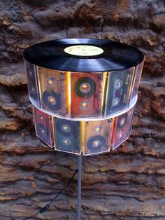 Record and cassette tape lamp