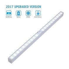 Closet Motion Sensor Light, Cshidworld 3 Mode Switch Wireless Portable 20-LED Night Lighting Bar Panty Cabinet Lamp(Battery Operated) - http://bestmetaldetector.co/closet-motion-sensor-light-cshidworld-3-mode-switch-wireless-portable-20-led-night-lighting-bar-panty-cabinet-lampbattery-operated/