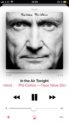 In The Air Tonight, Phil Collins, My Music, Songs, Face, Movie Posters, Movies, 2016 Movies, Film Poster