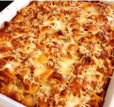 Photo: Chicken Parmesan Casserole  Ingredients: 2 lbs  uncooked boneless, skinless chicken breasts, cubed 2 cloves garlic, minced ¼ t crushed red pepper flakes  ¼ cup fresh basil, finely chopped 2 cups marinara/pasta sauce  1 ½ cups 2% reduced fat shredded mozzarella cheese 2 oz grated parmesan cheese 3.5 oz garlic croutons, roughly crushed, leaving some larger pieces   Directions: Preheat oven to 350 degrees. Lightly spray a 9 x 13 baking dish with cooking spray. Place the chicken in the bo...