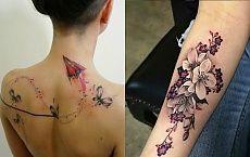 Kobiece wzory tatuażu - galeria najbardziej urzekających wzorów