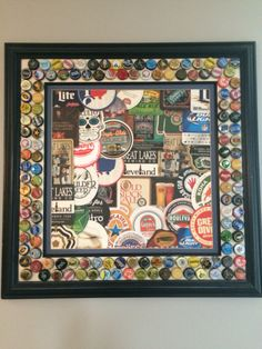 Beer coaster/bottle cap frame                                                                                                                                                      More