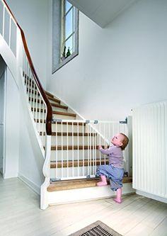 awesome BabyDan-Barrera de seguridad extensible en metal color blanco/plateado blanco blanco