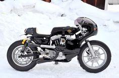 Harley Davidson Sportster Cafe Racer - via Return of the Cafe Racers