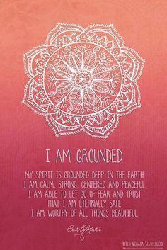 I am grounded - Root Chakra by Carly Marie ✨WILD WOMAN SISTERHOOD✨ #WildWomanSisterhood #nature #earthenspirit #touchtheearth #wildwomanmedicine #connect #motherearth #rewild #grounding #brewyourownmedicine #wildwomanteachings