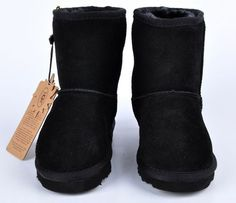 Knock off Uggs Classic Short Kids Boot 5281 Black On Sale Uggs For Cheap, Ugg Boots Cheap, Classic Ugg Boots, Ugg Classic Short, Girls Ugg Boots, Kids Boots, Discount Boots, Sheepskin Ugg Boots, Ugg Boots Australia