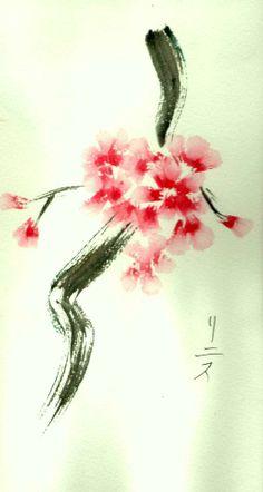 Oh flor de almendro! /Se han abierto tus flores / En el invierno