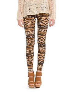 Blurred Tribal Leggings - omg perfect