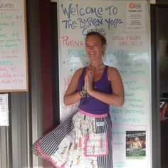 The lovely Jes with Apron Laurann enjoying a spot of yoga at the Purna Yoga Centre Byron Bay Australia. Poverty In India, Yoga Centre, Byron Bay, Aprons, Travelling, Journey, Australia, Board, Women