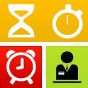Utilice esta herramienta para crear y administrar varios temporizadores, lo utilizan como un cronómetro, o incluso despertador, grabar su temporizador y alarma historia del reloj en el registro. Lista de características:  Cuenta atrás  Despertador  Cronómetro  Conectarse