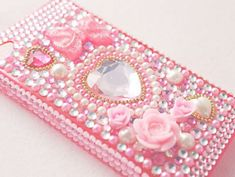 phone cover pink pastel pastel pink pastel phone case decoration decora decoden roses heart studs pearl cute kawaii asian fashion japanese fashion japanese japanese iphone case iphone 5 case iphone 4 case girly princess hime lolita bows sparkle