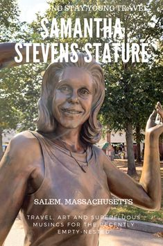 Clearly the most famous witch in America, this statues sits oddly in a prominent corner of #Salem; A town known for murdering witches. #SamanthaStevens #Bewitched #witches #wanderlust #roamtheworld #momentsofmine #statutes #solotravel #solofemaletravel #witchcraft #halloween #newenglad #roadtripusa