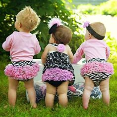 I need to meet people with little girls so we can cover their tushy's like this picture...so adorable!