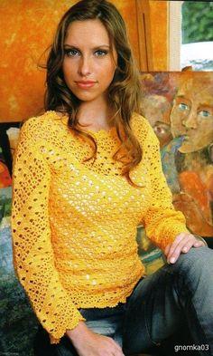 Желтый пуловер на прохладные дни. Обсуждение на LiveInternet - Российский Сервис Онлайн-Дневников