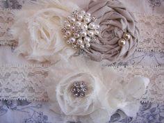 Wedding Garter Shabby Chic Wedding Wedding by SofiaUniqueBoutique, $27.00