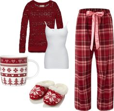 """Comfy Christmas Morning"" by tayrenee05 on Polyvore , ooh this looks os comfy i wish i was wearing it now... snuggle snuggle"