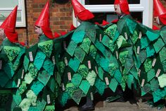 The Dragon's body, covered in scales handmade by all of the pupils at Broughton Junior School.
