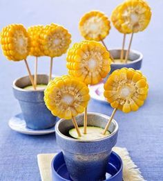Talk about nutritious -- corn creams other veggies in its amount of heart-healthy antioxidant zeaxanthin. Show your kids how fun the kitchen can be with these simple edible creations. It's as easy as Barnyard Party, Farm Party, Bbq Party, Pumpkin Patch Birthday, Sunflower Party, Edible Creations, Cowgirl Party, Farm Birthday, Party Decoration