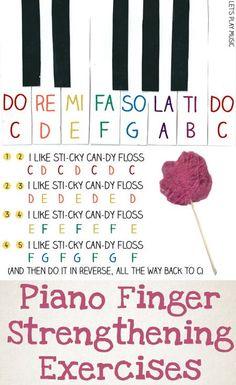 Finger Strengthening Exercises for First Piano Lessons for Kids