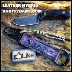 Leather/Paracord Hybrid  www.knottydans.com