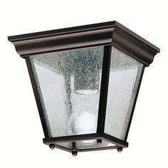 Kichler Lighting 9859 New Street Flush Outdoor Close to Ceiling Light - Lighting Universe