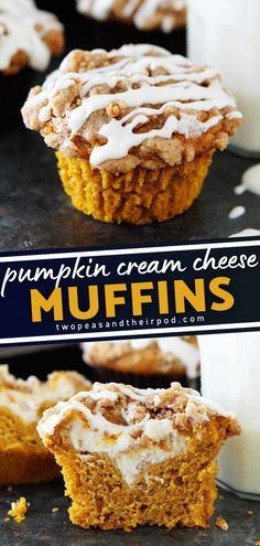 Perfectly spiced, super moist pumpkin muffin with cream cheese! This is the perfect fall treat great for breakfast, brunch, snack time, dessert, a midnight snack, Halloween, Thanksgiving, and more. Add this to your fall baking list!
