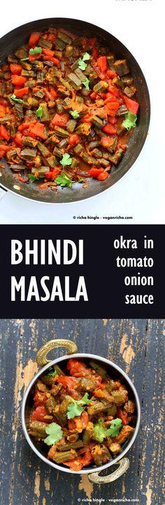 Bhindi Masala Recipe – Okra in Onion tomato Curry