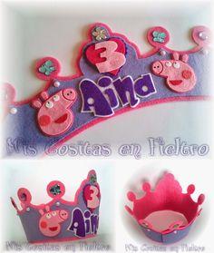 CORONA DE CUMPLEAÑOS PEPPA PIG