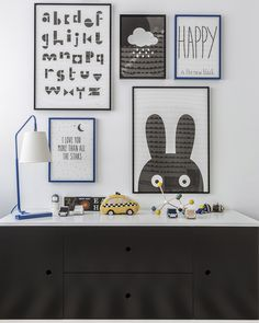 Design Reveal: Gabriel's Big Boy Room! Such a cute display above the dresser!