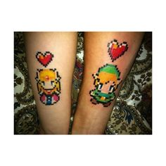 Taturday! Cute Zelda Tattoos! ($19) ❤ liked on Polyvore featuring accessories, body art and tattoo