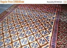 40% OFF SALE Antique Jamshidi Geometric pattern Tribal by TEKKARUG