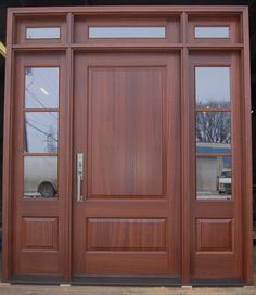I really want to be able to have a front door like this. I love the color and I think it would go perfect with the style I want my house to be.