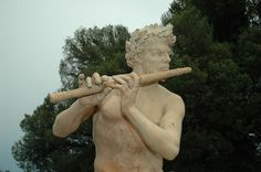 A flute player on the lawn of Biltmore House. The Magic Flute, Pipes, Lawn, Instruments, Music, Pictures, House, Image, Musica