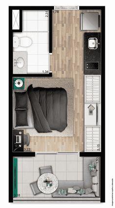 Little House Plans, Small Modern House Plans, Modern Small House Design, Small House Floor Plans, Tiny House Design, Small Apartment Design, Studio Apartment Decorating, Tiny House Layout, House Layouts