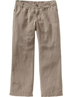 Buttoned-Linen Trousers