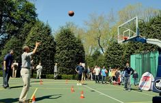 """Twitter / """"markknoller: Good hangtime but he misses. On this 2nd of 3 free throws at Egg Roll. He sank the next one. (CBS photo by [@]j12doz)"""" : 11:36 AM - 21 Apr 2014"""